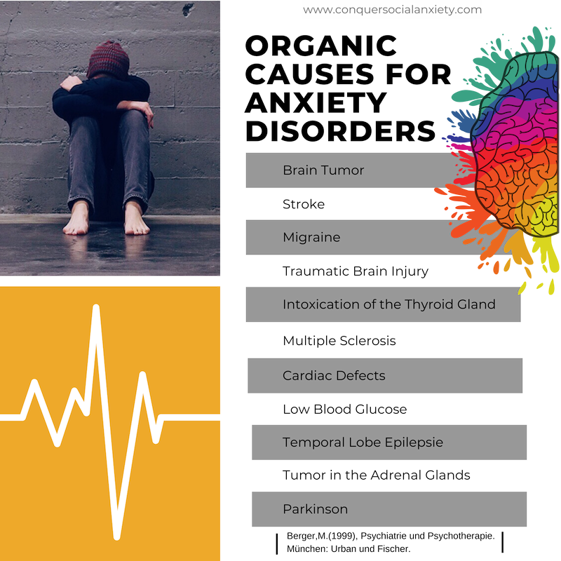 Similar Disorders 6 Organic causes for anxiety disorders 4