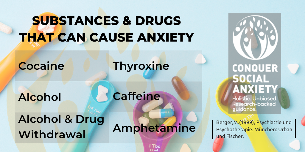 Similar Disorders 7 SUBSTANCES DRUGS THAT CAN CAUSE ANXIETY 1