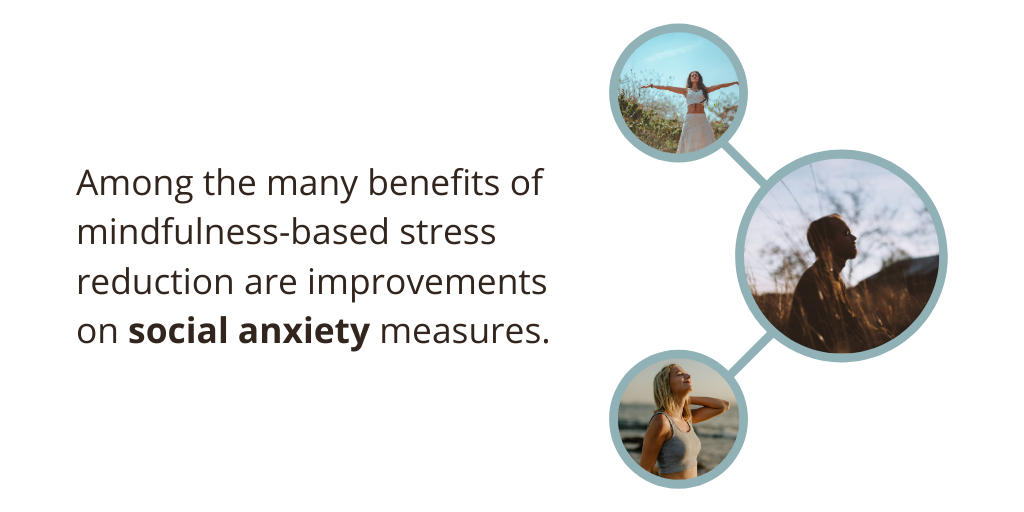 MBSR, mindfulness and meditation for social anxiety have been shown to lead to improvements on social anxiety measures.