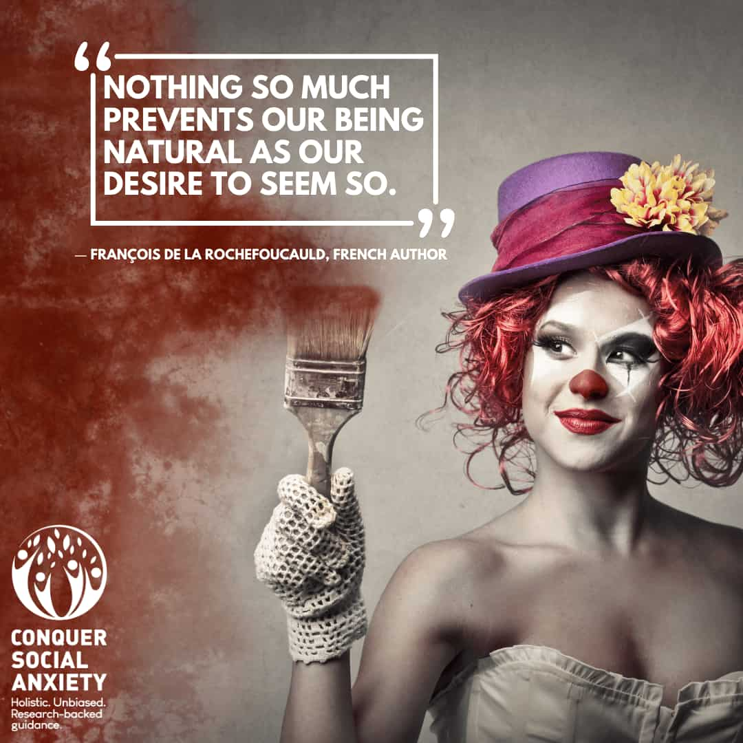 Quote: Nothing so much prevents our being natural as our desire to seem so.
